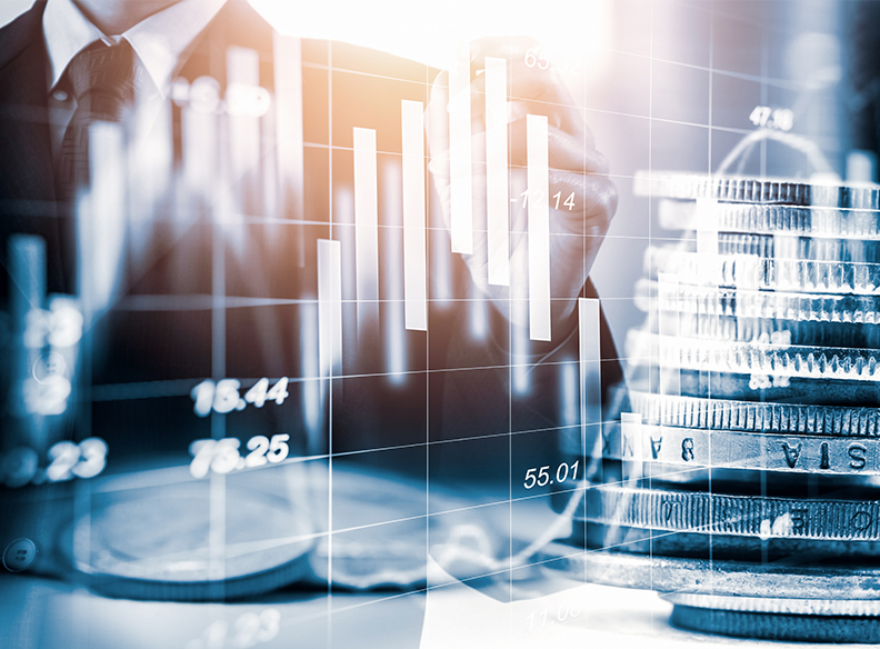 Double,Exposure,Businessman,And,Stock,Market,Or,Forex,Graph,Suitable